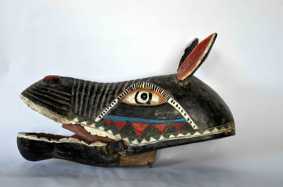 Mali Horse Puppet Head